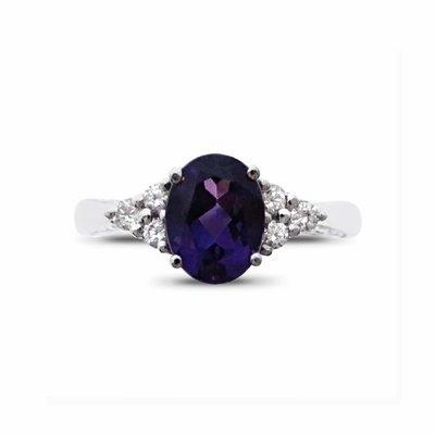 Amethyst & Diamond Dress Ring